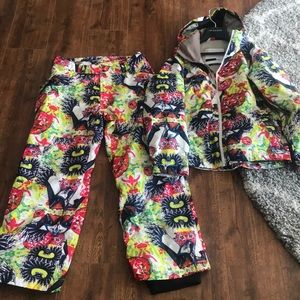 Bonfire Snowboarding Jacket & Pants Set Medium